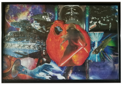 "Inspired by the legendary movie series ""Star Wars"" this piece is a one of a kind original and is not for sale yet as we are designing a custom frame for it."